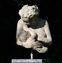 Bronze mother and baby