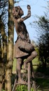 Cherry orchard girl sculpture