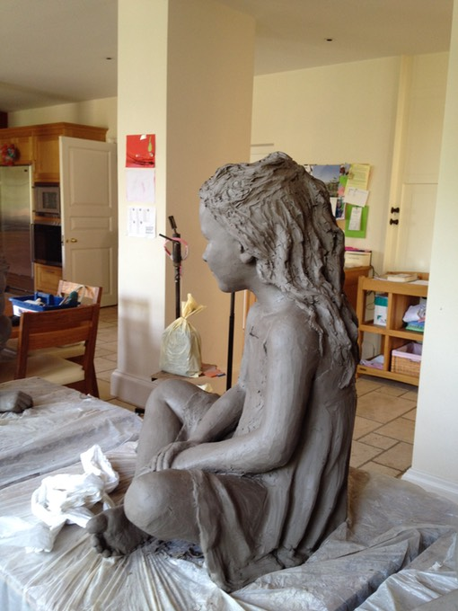 Clay sculpture in kitchen