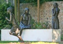 bronze sculptures children