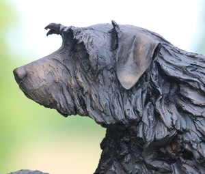 dog portrait sculpture