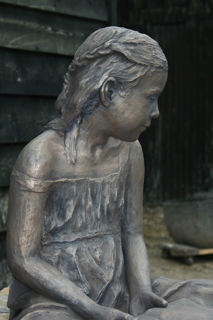 Ella Bronze sculpture by brian alabaster