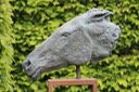 Bronze horse head brian alabaster