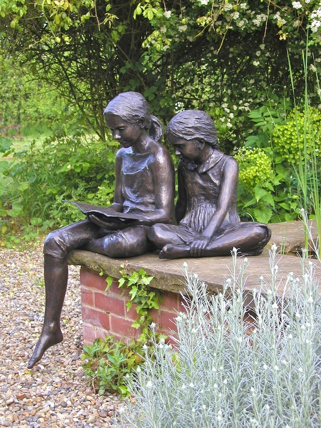Livvy and Evie Bronze sculpture by brian alabaster