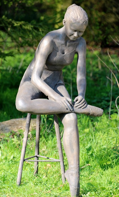 seated ballet dancer sculpture