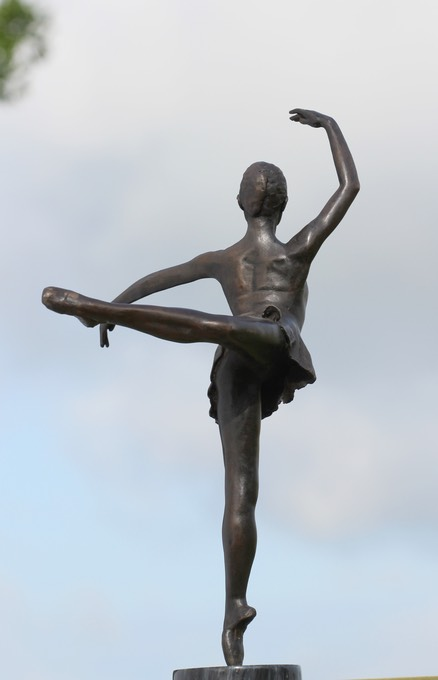 small ballet dancer bronze