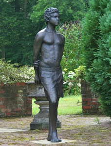 Bronze sculpture boy