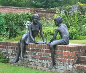 bronze sculpture children